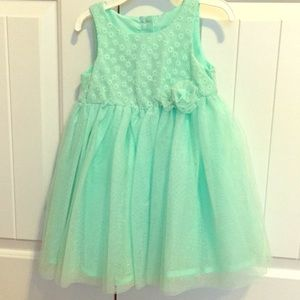 Green Mint Color Tulle Dress